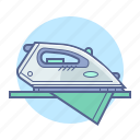 appliance, hotel, hotel services, iron icon