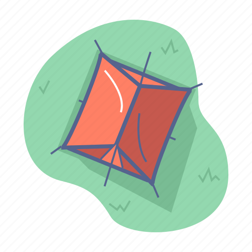 camp, journey, tent icon