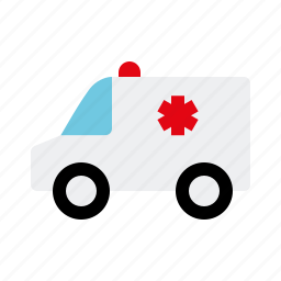 ambulance, automotive, emergency, motor vehicle, traffic, transportation, van icon