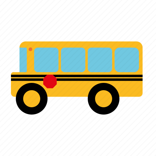 automotive, bus, education, motor vehicle, school bus, traffic, transportation icon