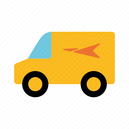automotive, delivery, mail, parcel, traffic, transportation, van icon