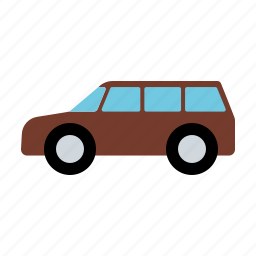 automotive, car, motor vehicle, station wagon, traffic, transportation icon