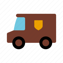 automotive, delivery, motor vehicle, parcel service, traffic, transportation, van icon