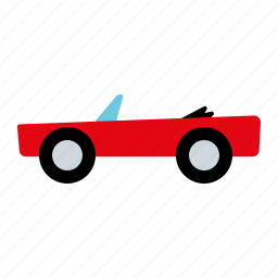 automotive, car, convertible, motor vehicle, roadster, traffic, transportation icon
