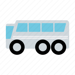 automotive, bus, coach, motor vehicle, silver, traffic, transportation icon