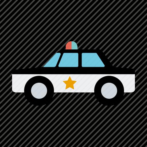 automotive, car, motor vehicle, police, traffic, transportation icon
