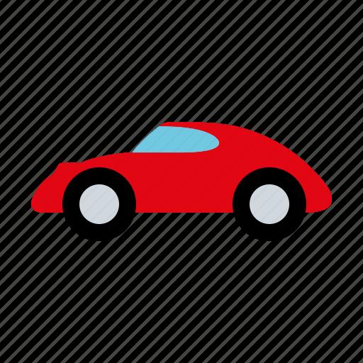 automotive, car, motor vehicle, sports car, traffic, transportation icon