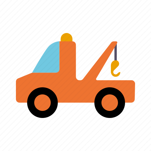 assistance, automotive, motor vehicle, support, tow truck, traffic, transportation icon