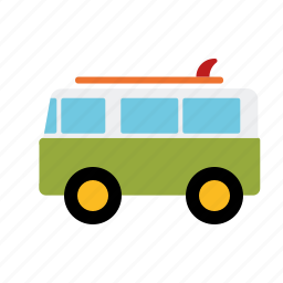 automotive, bus, camper, surfer, traffic, transportation, van icon