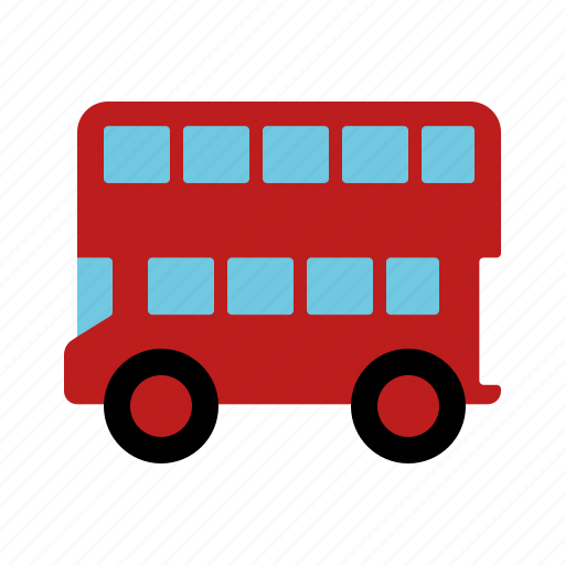 automotive, bus, doubledecker, london bus, motor vehicle, traffic, transportation icon