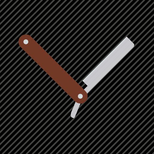 barber, bathroom, beauty, knife, razor, shaving icon
