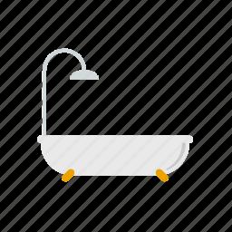 bathroom, bathtub, beauty, fixture, hygiene, shower icon
