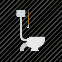 bathroom, closet, fixture, hygiene, toilet, water icon