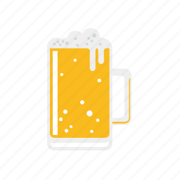 beer, beverage, drink, food, froth, glass icon