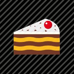 cake, cherry, food, pastry, pie, piece icon