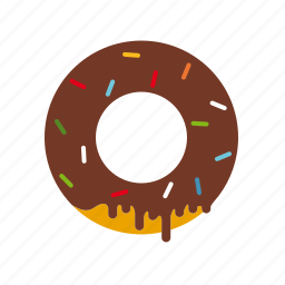 chocolate, donut, food, pastry, sprinkle, sweet icon