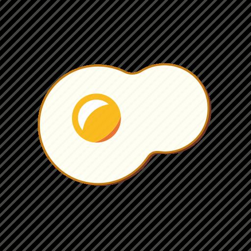 egg, food, fried, yolk icon