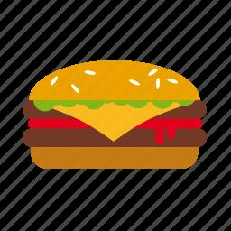 burger, cheeseburger, fast food, food, hamburger, junk food, meat icon