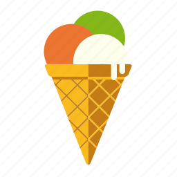 dairy, food, ice cream, italian, scoop, waffle icon