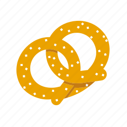 food, pastry, pretzel, salt, snack icon