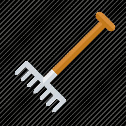 equipment, garden, gardening, rake, tool icon