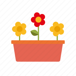 container, equipment, flower pot, flowers, garden, gardening, planter icon