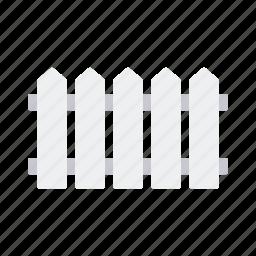 equipment, fence, garden, gardening, picket fence, wooden icon