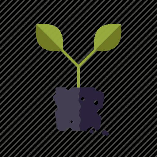garden, gardening, plant, planting, soil, sprout icon
