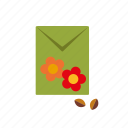 bag, equipment, flowers, garden, gardening, seeds icon