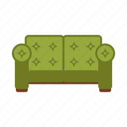 couch, furniture, home, interior, sofa, upholstered icon