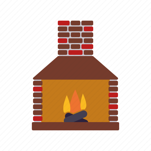 Chimney, decoration, fire, fireplace, flame, home, interior icon - Download on Iconfinder