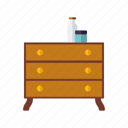 cosmetics, decoration, drawers, dresser, furniture, home, interior icon