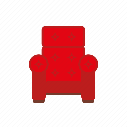 Upholstered, interior, home, chair, arm chair, furniture icon