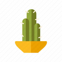 cactus, decoration, flower pot, home, interior, plant icon