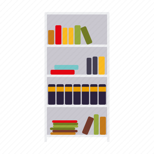 Books, bookshelf, decoration, furniture, interior, shelf icon - Download on Iconfinder