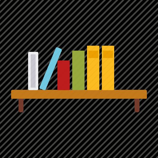 book shelf, books, decoration, furniture, interior, shelf icon