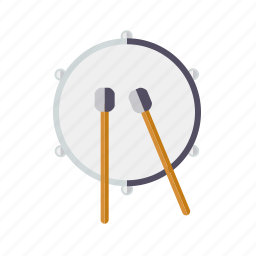 drum, instrument, mallet, music, percussion, rhythm, sound icon