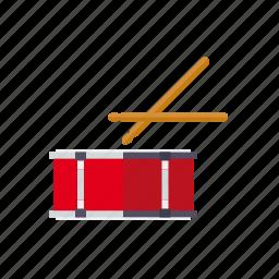 drum, instrument, music, percussion, rhythm, sound, sticks icon