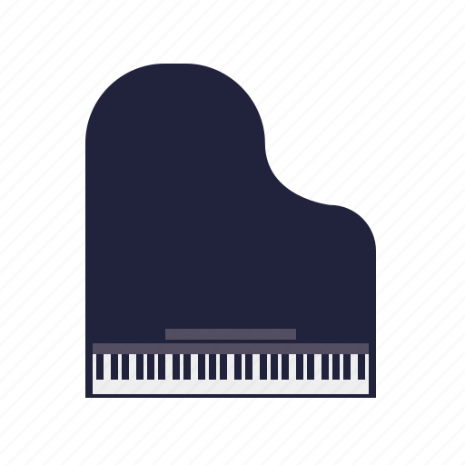 grand piano, instrument, keyboard, music, sound icon