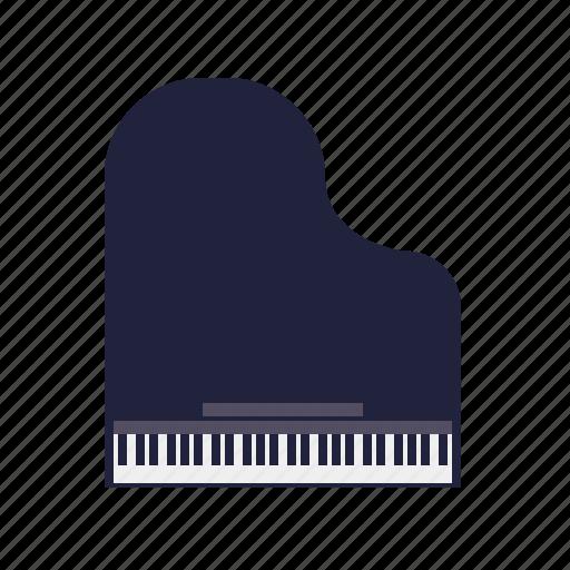 grand piano, instrument, keyboard, music, sound icon