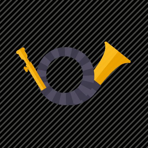 brass, horn, instrument, music, sound, wind icon