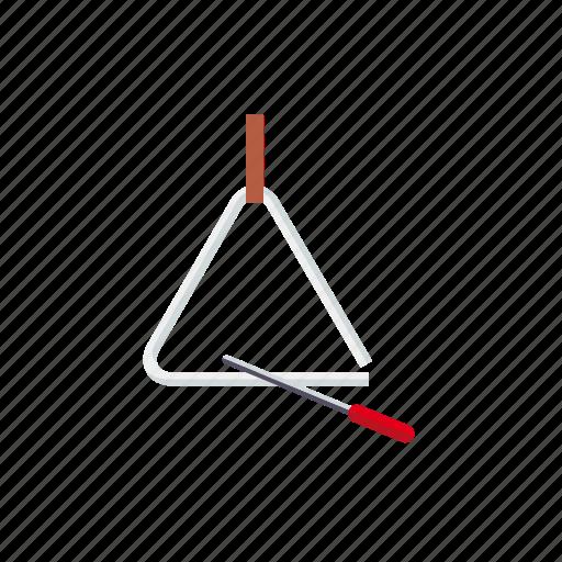 instrument, mallet, music, percussion, sound, triangle icon