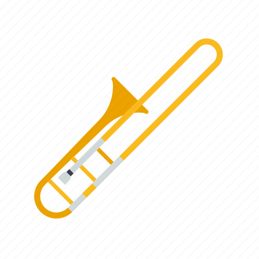 brass, instrument, jazz, music, sound, trombone, wind icon
