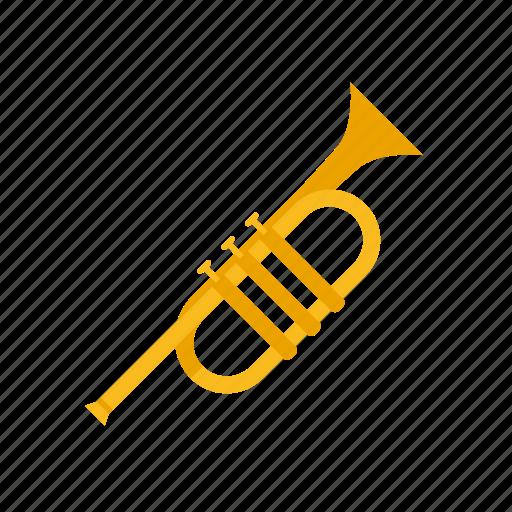 brass, instrument, music, sound, trumpet, wind icon