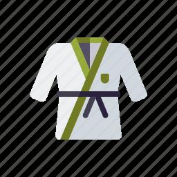 clothing, combat sports, equipment, judo, judogi, sports, suit icon
