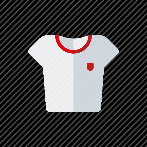 athletics, clothing, equipment, shirt, sports, sportswear, t-shirt icon