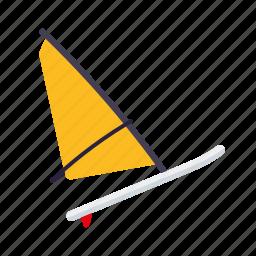equipment, sail, sports, surfboard, water sports, windsurfing icon