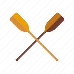 crossed, equipment, paddles, rowing, skulling, sports icon