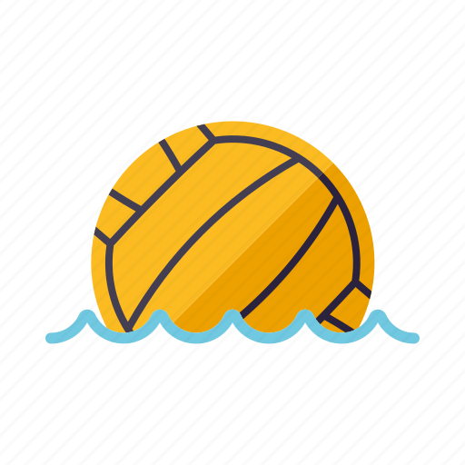 ball, equipment, sports, team sports, water polo, water sports icon