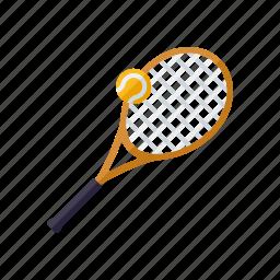 equipment, racket, sports, tennis, tennis ball icon